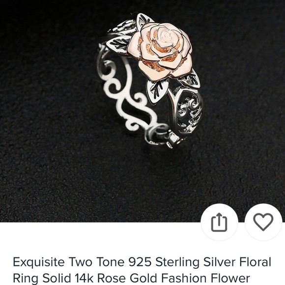 Jewelry - 🌸🌸TWO TONE 925 STERLING AND ROSE GOLDRING🌺🌺🌺